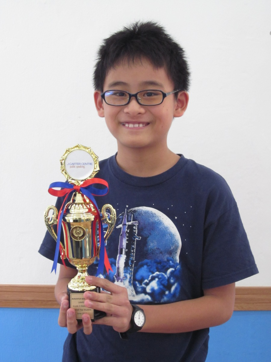 Congratulations to Augustus Tay for Achieving a Perfect Score in the LAMDA Speaking in Public Examinations!